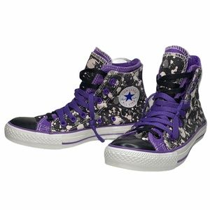 Converse 5.5 Black Purple Double Layer High Tops
